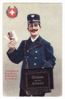 AK Motiv Post - Briefbote Gruss Aus Der Schweiz 8.8.1911 Basel Nach Leipzig Taxiert - Poste & Facteurs