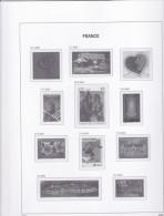 Pages Davo France Luxe Avec Pochettes De 2000 à 2003 Ensemble De 75 Pages Neuves - Pre-Impresas