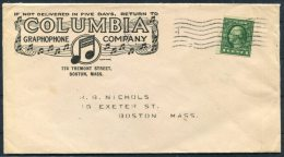 USA Columbia Graphophone Records, Boston Illustrated Music Advertising Cover - United States