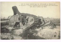 Tank - Char - 1921 - Un Tank Capturé Par Les Allemands Et Détruit Par Les Anglais - A Tank Captured From The British... - Andere Oorlogen
