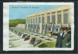 Barrage De Kembs Mulhouse Chromo/image De La Caisse D'Épargne Didactique Au Dos 65x50 Mm TB Illustration De Bentegeat - Otros