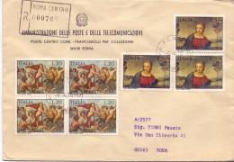 PP.TT - UFF. FILATELICO - 450° ANNIVERSARIO MORTE DI RAFFAELLO SANZIO - R - 1970 - TEMATICA TOPIC STORIA COMUNI D´ITALIA - Affrancature Meccaniche Rosse (EMA)