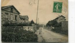 CPA 95  GROS NOYER LA RUE DU GROS NOYER 1914 - France