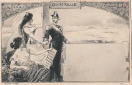 MILITARE-MILITARI-ILLUSTRATORE BINI-GUSSONI MILANO--GIUGNO MDCCCIC-1889-2 SCAN-RARA-OTTIMA CONSERVAZIONE- - Patriotic