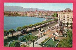 SUISSE GENEVE, Monument Brunswick, Hôtel De La Paix, La Ville, 1958, Animée, (C. Sartori, Genève) - GE Genève