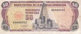 BILLETE DE REP. DOMINICANA DE 50 PESOS ORO DEL AÑO 1994 SERIE A (BANKNOTE) - República Dominicana