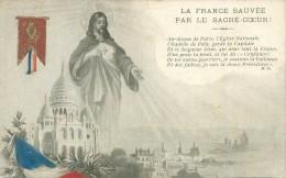 Carte Patriotique  -  La France Suavée Par Le Sacré Coeur       AH955 - History