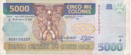 BILLETE DE COSTA RICA DE 5000 COLONES AÑO 1991  (BANKNOTE) TUCAN-LEOPARDO - Costa Rica
