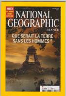 REVUE NATIONAL GEOGRAPHIC FR N° 112  La Terre Sans Les Hommes - Géographie