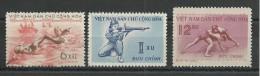 VIET NAM Du NORD - YVERT N°172/174 NEUFS - SPORTS - NATATION - TIR - LUTTE - Viêt-Nam