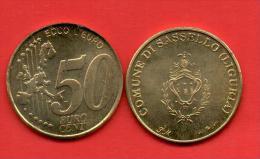 EUROS PRUEBA -  VATICANO -  50 Cents - Sassello LIGURIA - PRUEBA - EURO