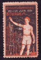BOURGES CONCOURS DE GYMNASTIQUE  20 ET 21 JUIN 1931 - Commemorative Labels