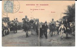 Cpa Souvenir De Robinson - La Course à Anes . ( Départ-Arrivée). - France