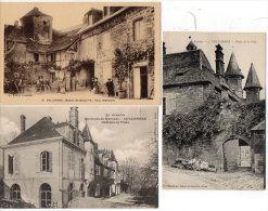 COLLONGES - 3 CPA - Chateau De Friac - Manoir De Beauvirie - Porte De La Ville    (84636) - Andere Gemeenten