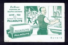 """Buvard """" PALMOLIVE"""" Enhiver Comme En Toute Saisons Lave-toi Avec Le Savon) - Buvards, Protège-cahiers Illustrés"""