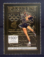 Guinée Timbre Or Gold JO H94 ** - Hiver 1994: Lillehammer