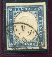 1861-SARDEGNA/ ITALIA-20C. USATO EFFIGIE CAPOVOLTA-RARITA'-LUXE !! - Sardaigne