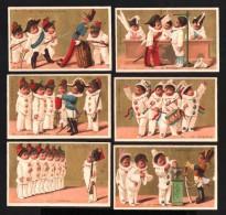 6 Chromos Dorés - Enfants Pierrots Militaires - Tirage Au Sort - Conscrits - Croix D'honneur - EL IMPORTADOR - MEXICO - Kaufmanns- Und Zigarettenbilder