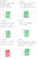 D 56 Variétés Sur 6 Timbres Marianne Lamouche Sur Fragments - Variétés: 2000-09 Oblitérés