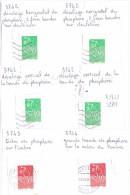 D 57 Variétés Sur 6 Timbres Marianne Lamouche Sur Fragments - Variétés: 2000-09 Oblitérés