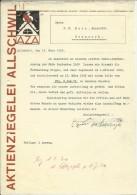 FAKTURA, RECHNUNG, INVOICE  --  A.G. AZA,  --  AKTIENZIEGELEI ALLSCHWIL  --  1930 - Schweiz