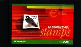 IRELAND/EIRE - 2003  € 4.80 BOOKLET PEREGRINE FALCON GUMMED FINE USED FDI CANCEL - Libretti