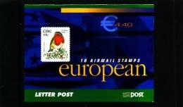 IRELAND/EIRE - 2002  € 4.40  BOOKLET  ROBIN  SELF-ADHESIVE  FINE  USED  FDI CANCEL - Libretti