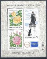1986 HONGRIE BF 186** Roses, Washington - Blocks & Sheetlets