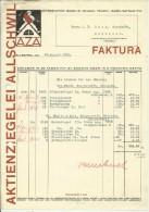 FAKTURA, RECHNUNG, INVOICE  --  A.G. AZA,  --  AKTIENZIEGELEI ALLSCHWIL  --  1932 - Schweiz