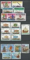 VIET NAM - YVERT N°381/6 + 732/8 + 948A/G NEUFS - 3 SERIES COMPLETES BATEAUX - COTE = 27.3 EURO - Viêt-Nam