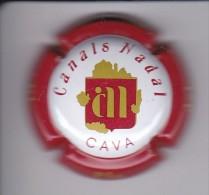 PLACA DE CAVA CANALS NADAL (CAPSULE)  COLOR BLANCO Y ROJO - Placas De Cava