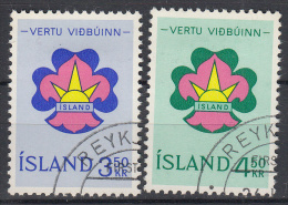 IJSLAND - Michel - 1964 - Nr 378/79 - Gest/Obl/Us - 1944-... Republik