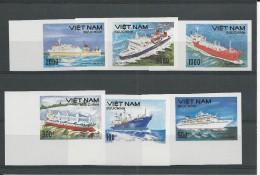VIET NAM - YVERT N°1115/1120 RARE NON DENTELES NEUFS - BATEAUX - Viêt-Nam
