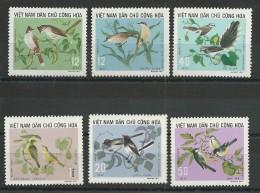 VIET NAM DU NORD - YVERT N°794/799 NEUFS - OISEAUX - SERIE COMPLETE - Viêt-Nam