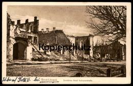 ALTE POSTKARTE BREST-LITOWSK ZERSTÖRTES HOTEL KOBRYNERSTRASSE Cpa Postcard AK Ansichtskarte - Guerre 1914-18