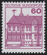 1028AII Burgen Und Schlösser 60 Pf Rheydt, Letterset ** - [7] Federal Republic