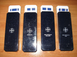 LOT DE 4 BOITES + RAPPELS MEDAILLES OTAN / EX-YOUGOSLAVIE / KOSOVO / NON ARTICLE 5 BALKANS / NON ARTICLE 5 ISAF - Medaglie
