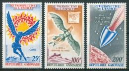 1970 Gabon Retrospettiva Dello Spazio Space Espace Set MNH**B639 - Raumfahrt