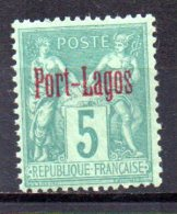 3/ Colinies Francaise  Port Lagos  N°  1 Neuf  XX  MNH  Cote : 87,50 € - Unused Stamps