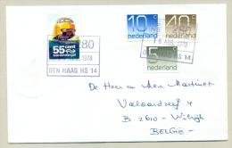 Nederland - 1978 -  55 Cent Treinbriefzegel En NS-stempel Op Cover Naar Antwerpen - Period 1949-1980 (Juliana)