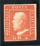 1859-SICILIA-5 GRANA -M.N.H.-LUXE !! - Sicilia
