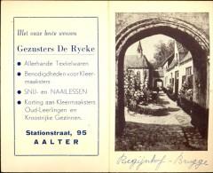 Kalender Calendrier - 1953 - Publicité Reclame Textiel De Rycke - Aalter - - Calendriers