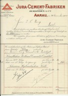 FACTURA, RECHNUNG   --  JURA - CEMENT - FABRIKEN, AARAU  --  1900 - Schweiz