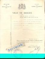 Extrait D´acte De Naissance Eduard Deknuydt 1863 - Bruges 1938 - Geboorteakte Brugge - Documenti Storici