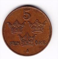 1950 Sweden 5 Ore Coin - Sweden