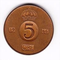1966 Sweden 5 Ore Coin - Sweden