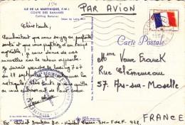 1541# CARTE POSTALE FRANCHISE MILITAIRE FM Obl 972 FORT DE FRANCE MARTINIQUE 1968 ARS SUR MOSELLE - Poststempel (Briefe)