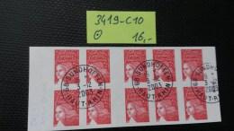 Carnet N° 3419-C10  Avec Oblitération Cachet à Date à 20% De La Cote  TTB - Definitives