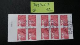 Carnet N° 3419-C7  Avec Oblitération Cachet à Date à 20% De La Cote  TTB - Definitives