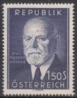 Österreich MiNr. 982 ** 80. Geburtstag Von Theodor Körner - 1945-.... 2. Republik